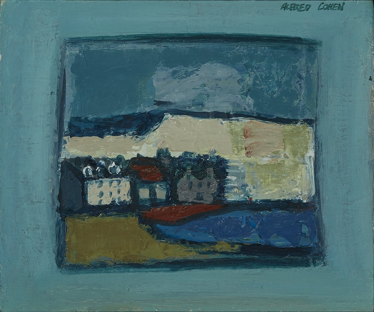 Alfred Cohen (1920-2001) Small Haven c. 1968 Oil on board 25.4 x 30.5 cm Private Collection © Estate of Alfred Cohen 2020