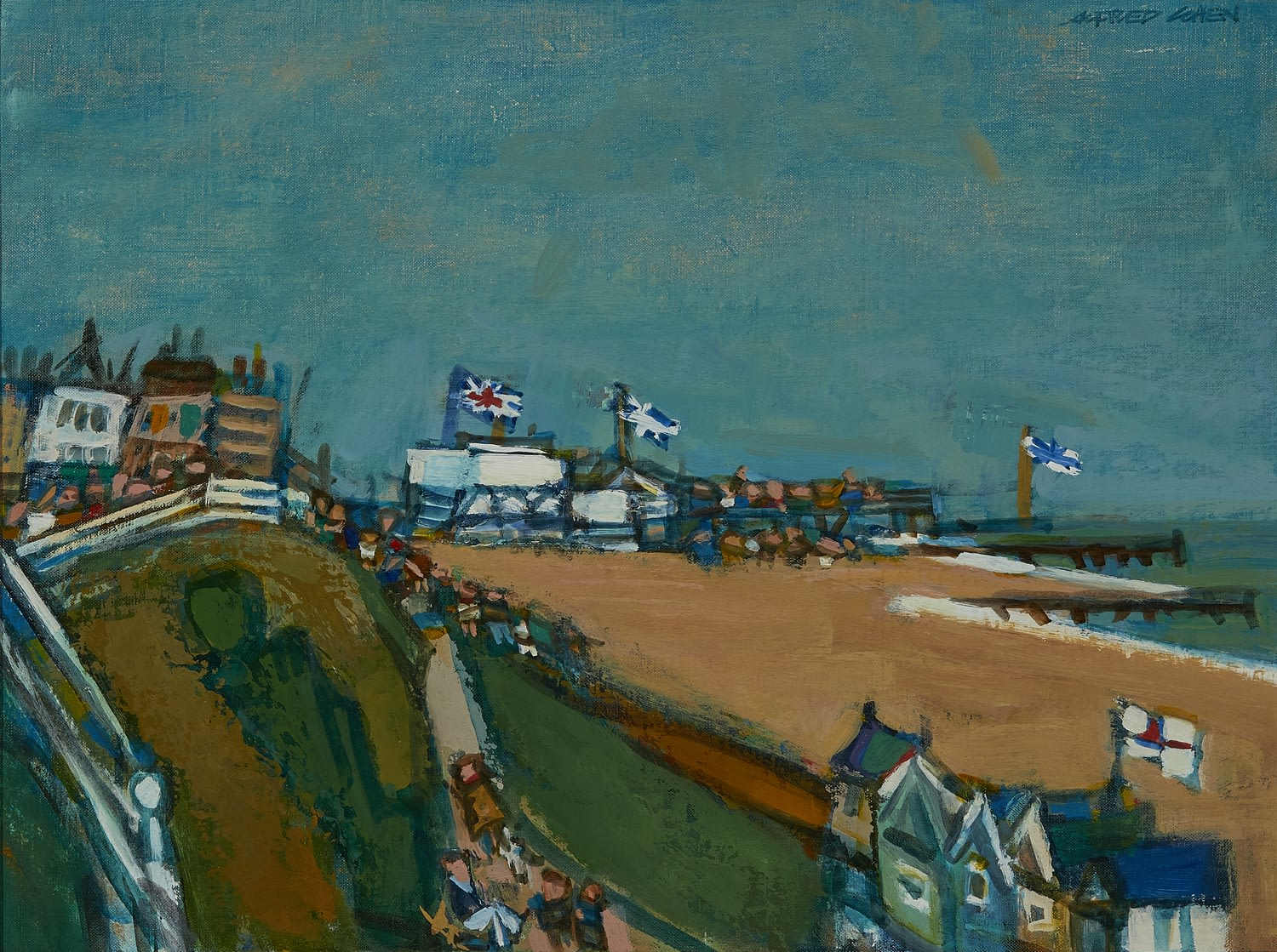 Alfred Cohen (1920-2001) Southwold 1986 Oil on board 38 x 51 cm Private Collection © Estate of Alfred Cohen 2020