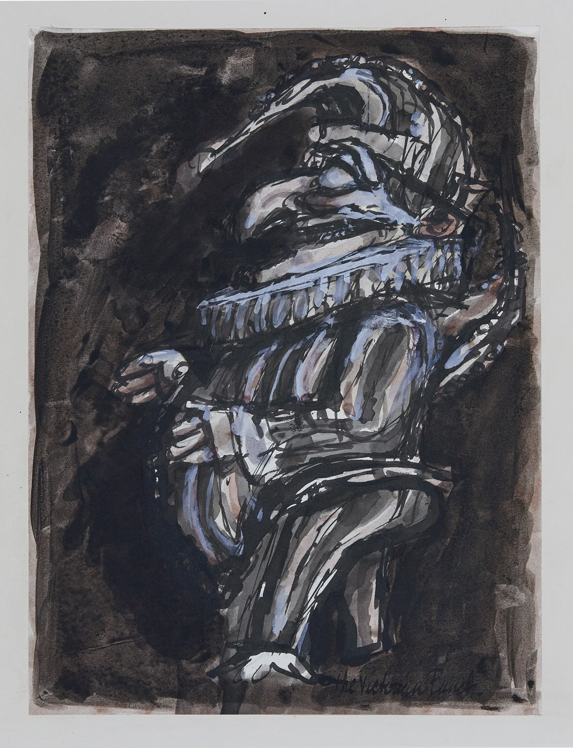 Alfred Cohen (1920-2001) The Victorian Punch c. 1965 Pen and ink wash and gouache 34.3 x 24.4 cm Collection: Diana Cohen © Estate of Alfred Cohen 2020