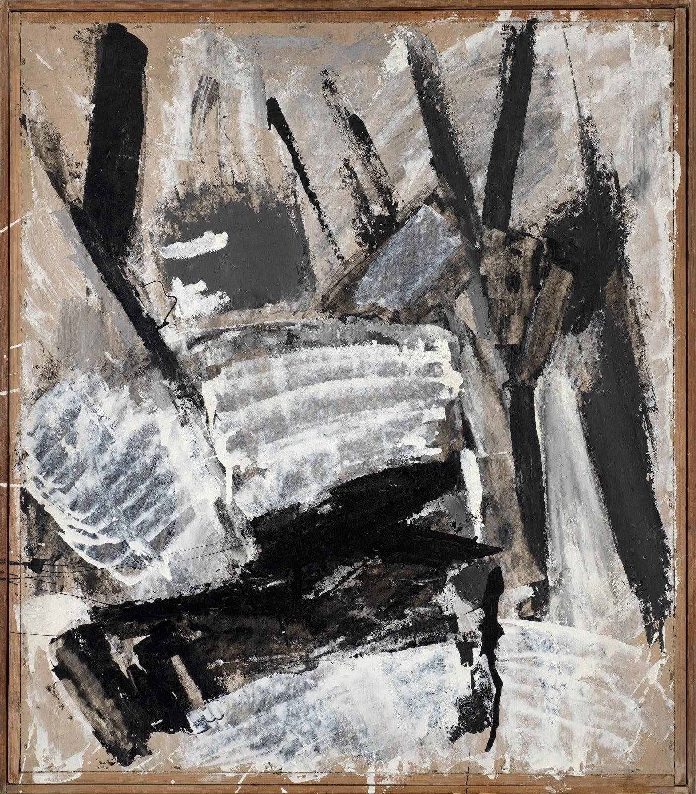Gustav Metzger Painting on Cardboard Oil on found kodak box, c. 1961-62 68.4 x 59.4cm. The Gustav Metzger Foundation