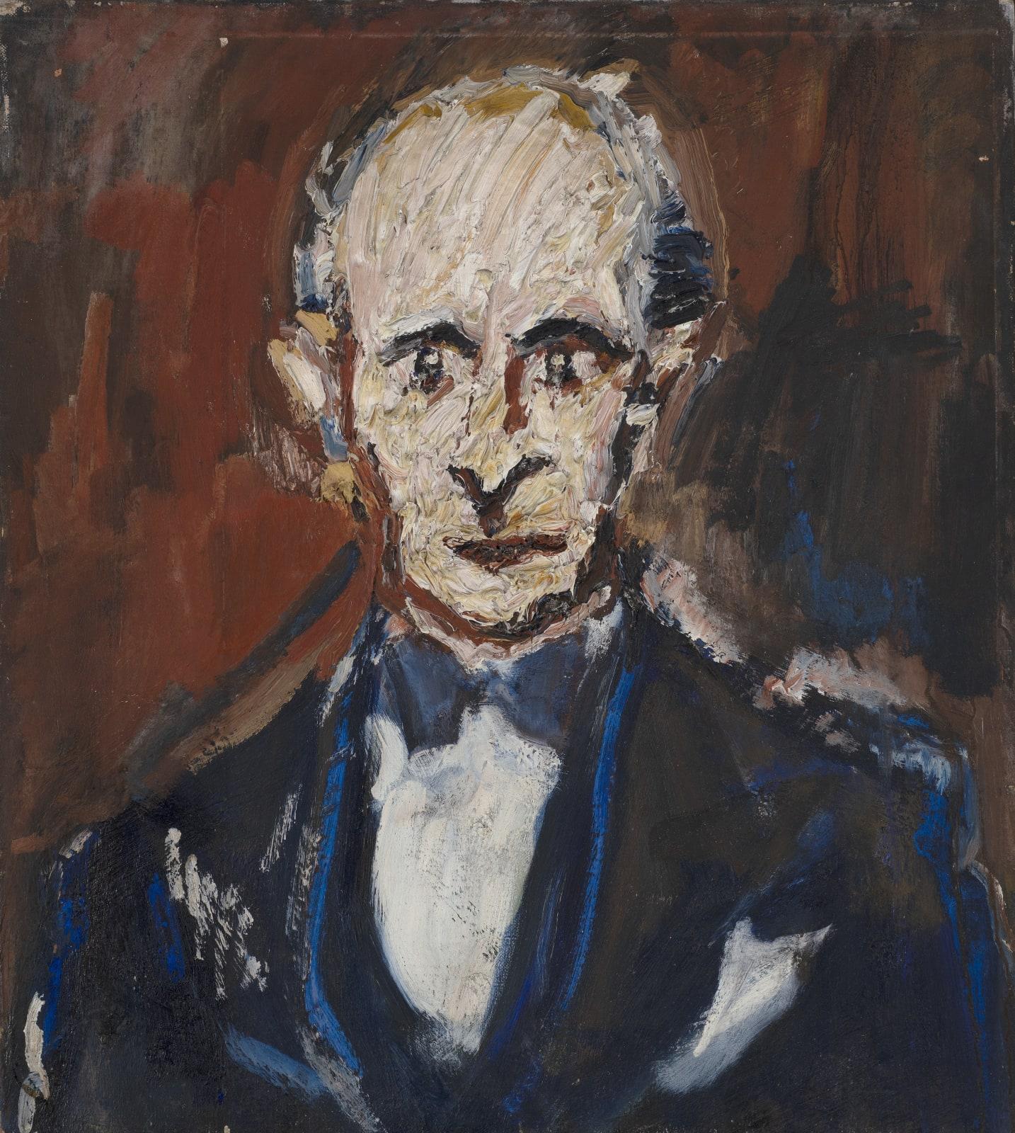 Gustav Metzger Head of E Royalton-Kisch, 1950 Oil on canvas, 69.4 x 62.2cm. The Gustav Metzger Foundation