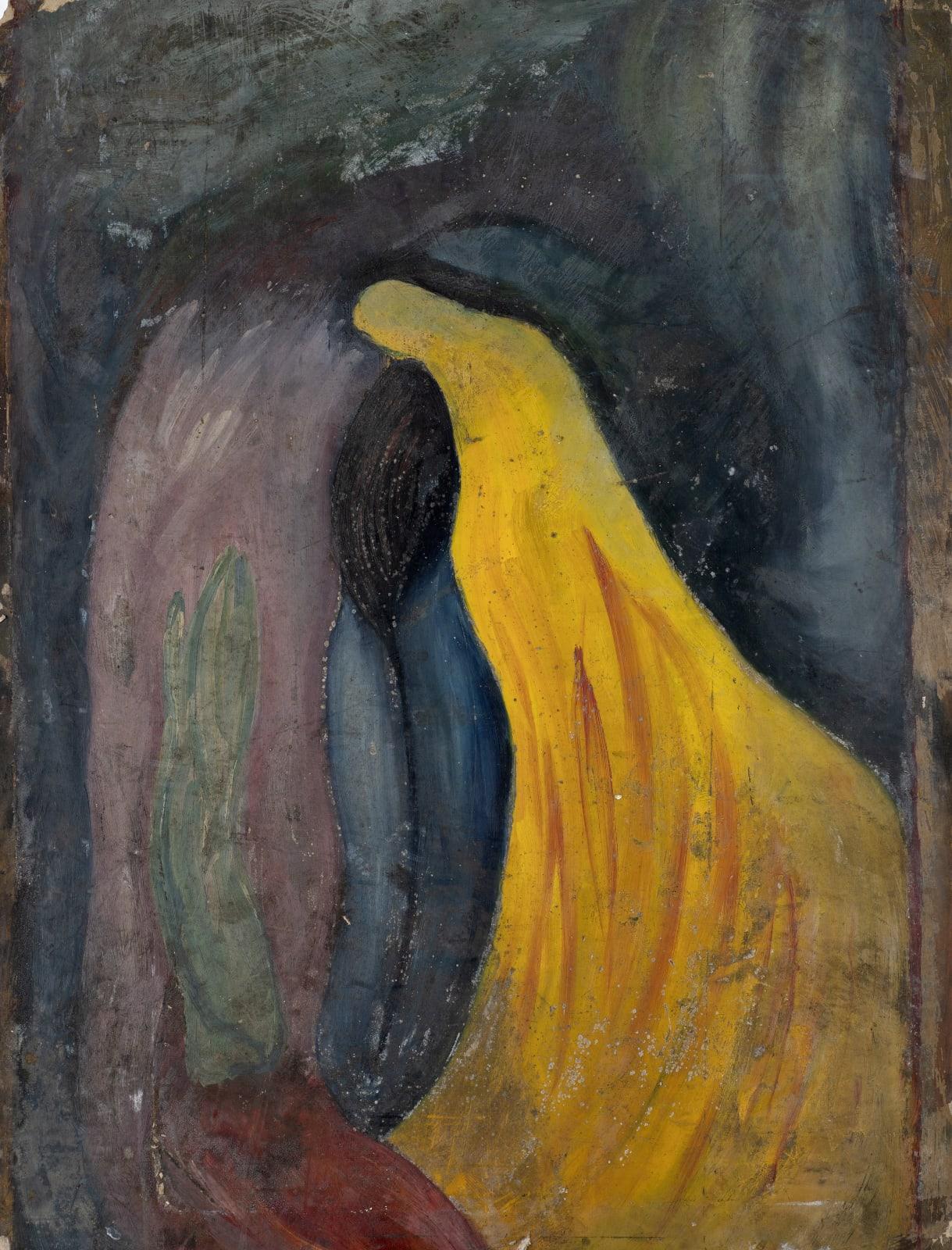 Gustav Metzger Untitled, c. 1945-47 Oil on board, 102 x 76cm. The Gustav Metzger Foundation
