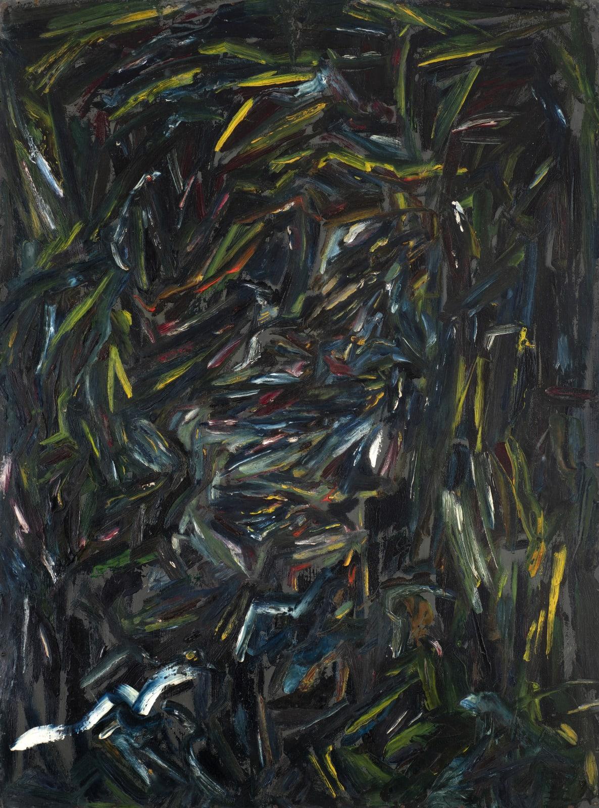 Gustav Metzger, Head of Cliff Holden, 1946 Oil on board 123 x 90 cm. The Gustav Metzger Foundation