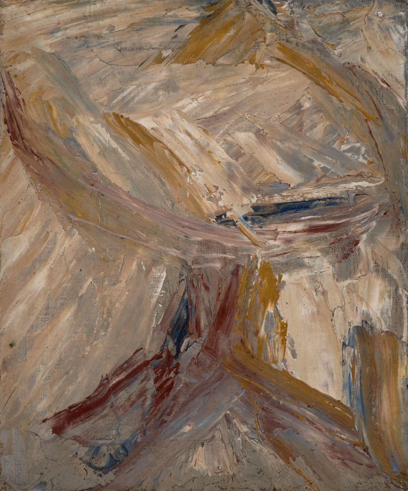 Gustav Metzger Table, 1956 Oil on canvas 30 x 25cm. The Gustav Metzger Foundation