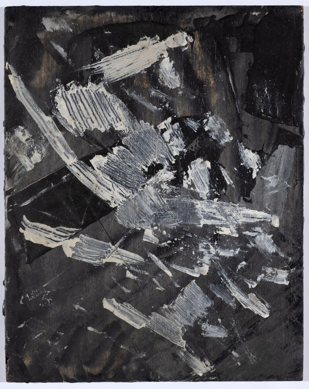 Gustav Metzger Painting, c. 1958-60 Oil on board 22 x 28cm. The Gustav Metzger Foundation