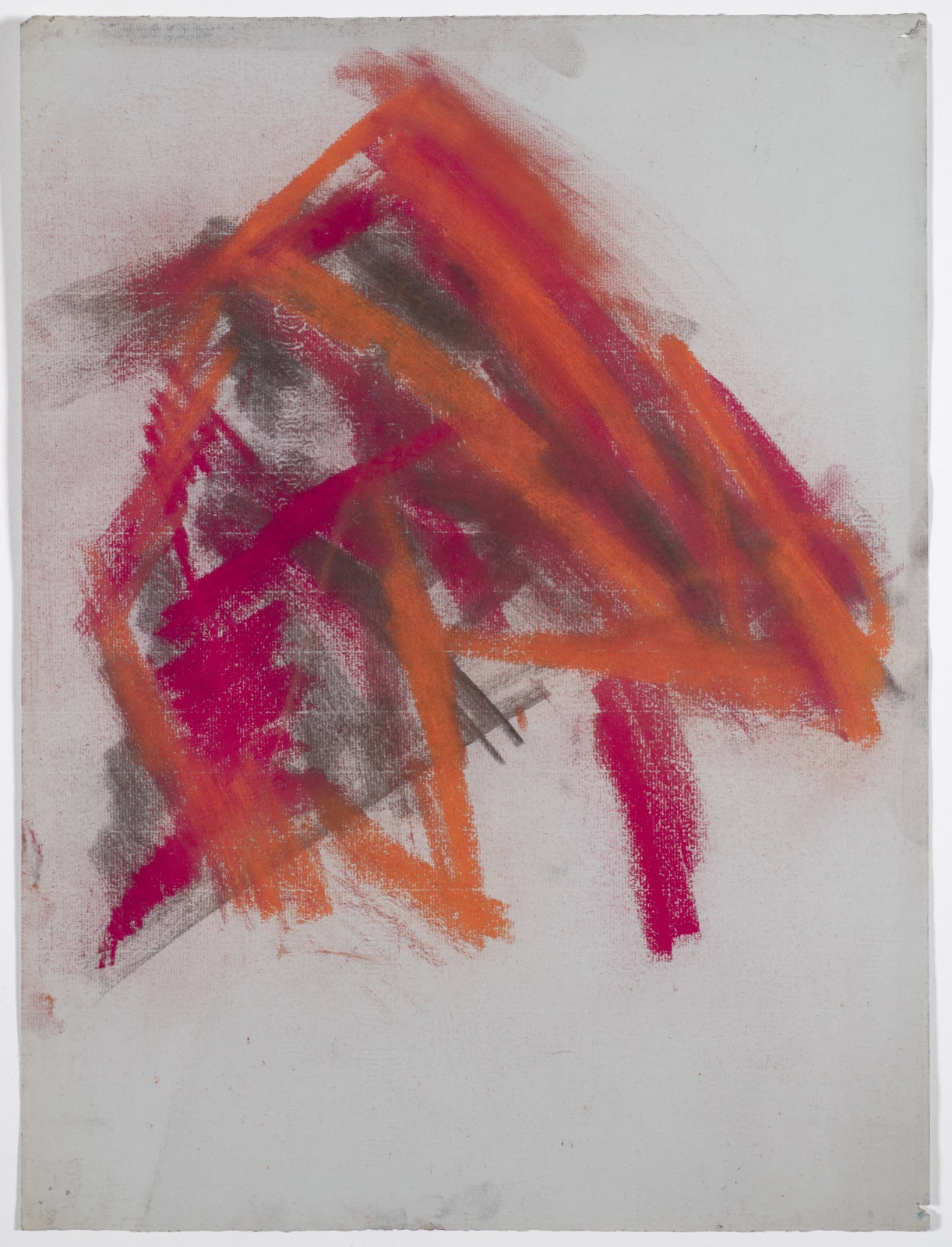 Composition, c.1950-53 Chalk and charcoal on paper 52 x 38.2cm The Gustav Metzger Foundation