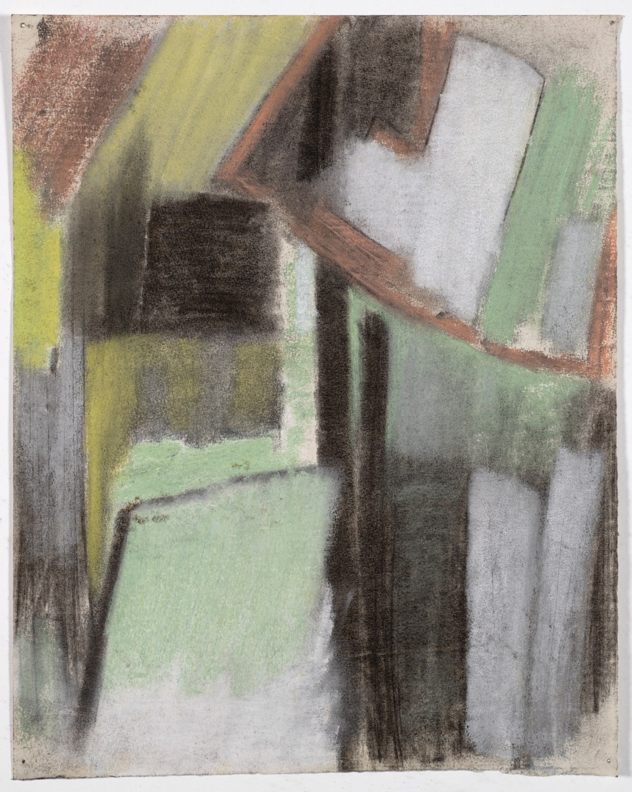 Drawing, c.1953 Coloured chalk on paper 35 x 28cm The Gustav Metzger Foundation