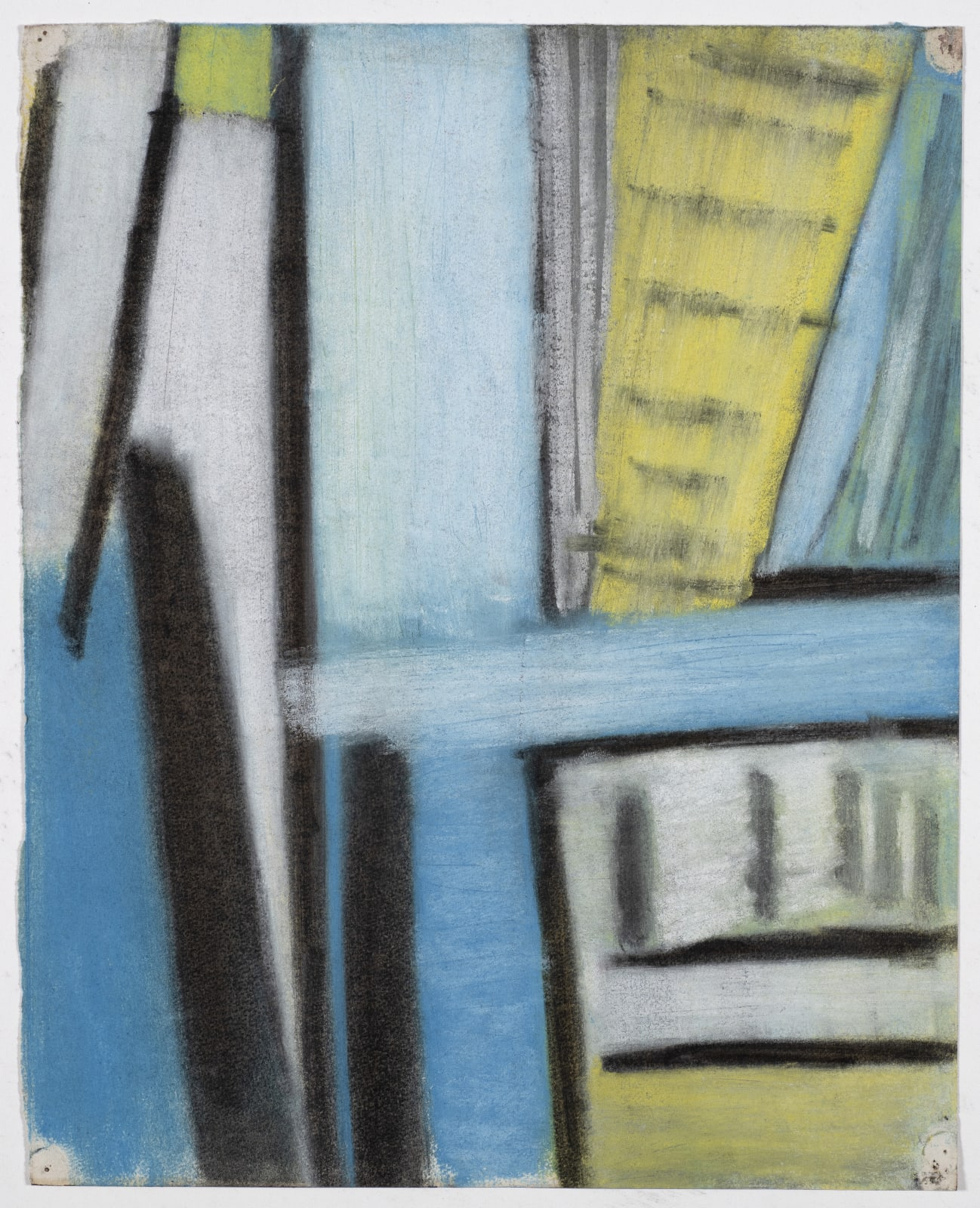 Drawing, c. 1953 Coloured chalk on paper 35 x 28cm The Gustav Metzger Foundation