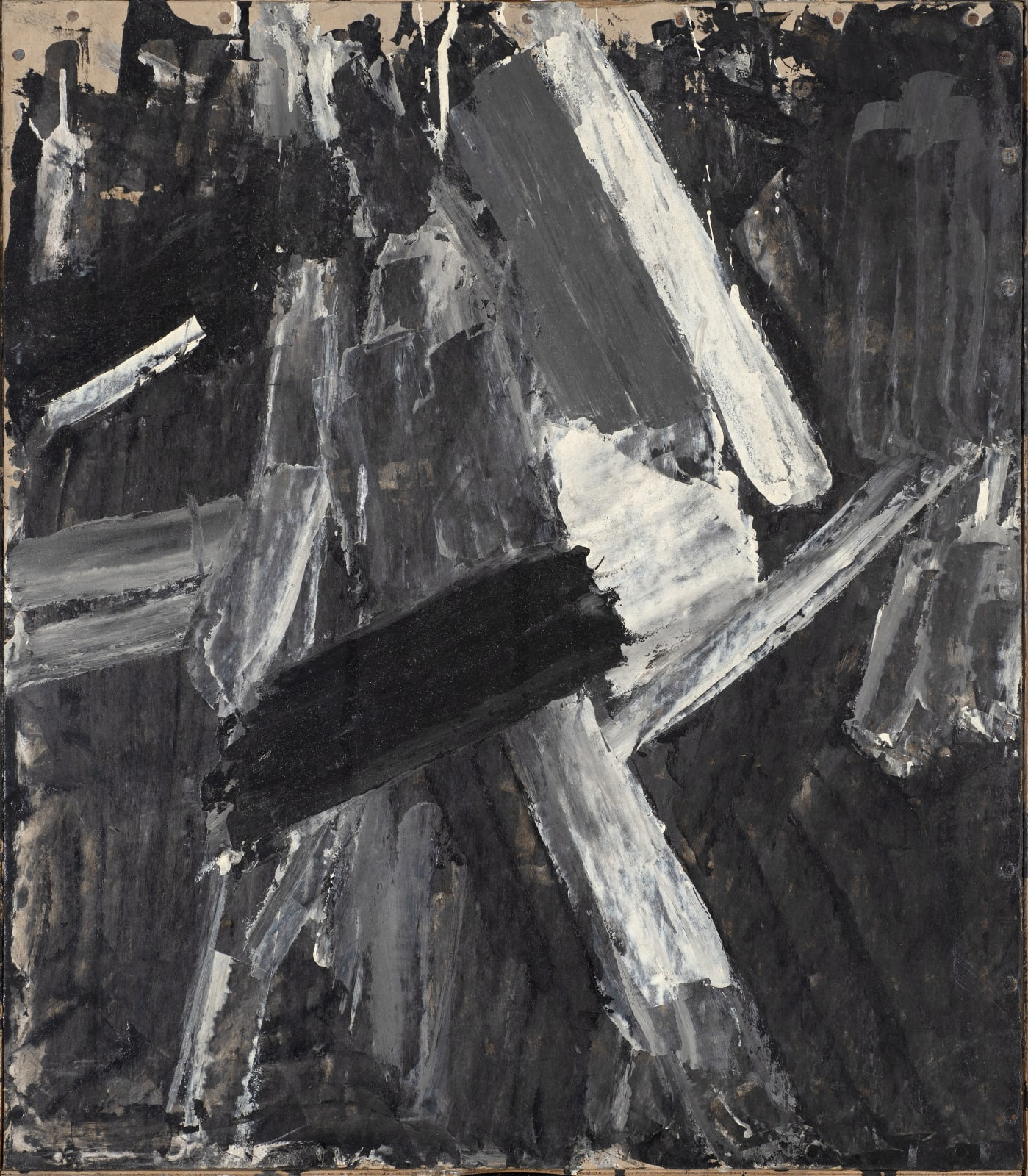 Painting on Cardboard, c. 1961-62 Oil on board 68 x 59cm The Gustav Metzger Foundation
