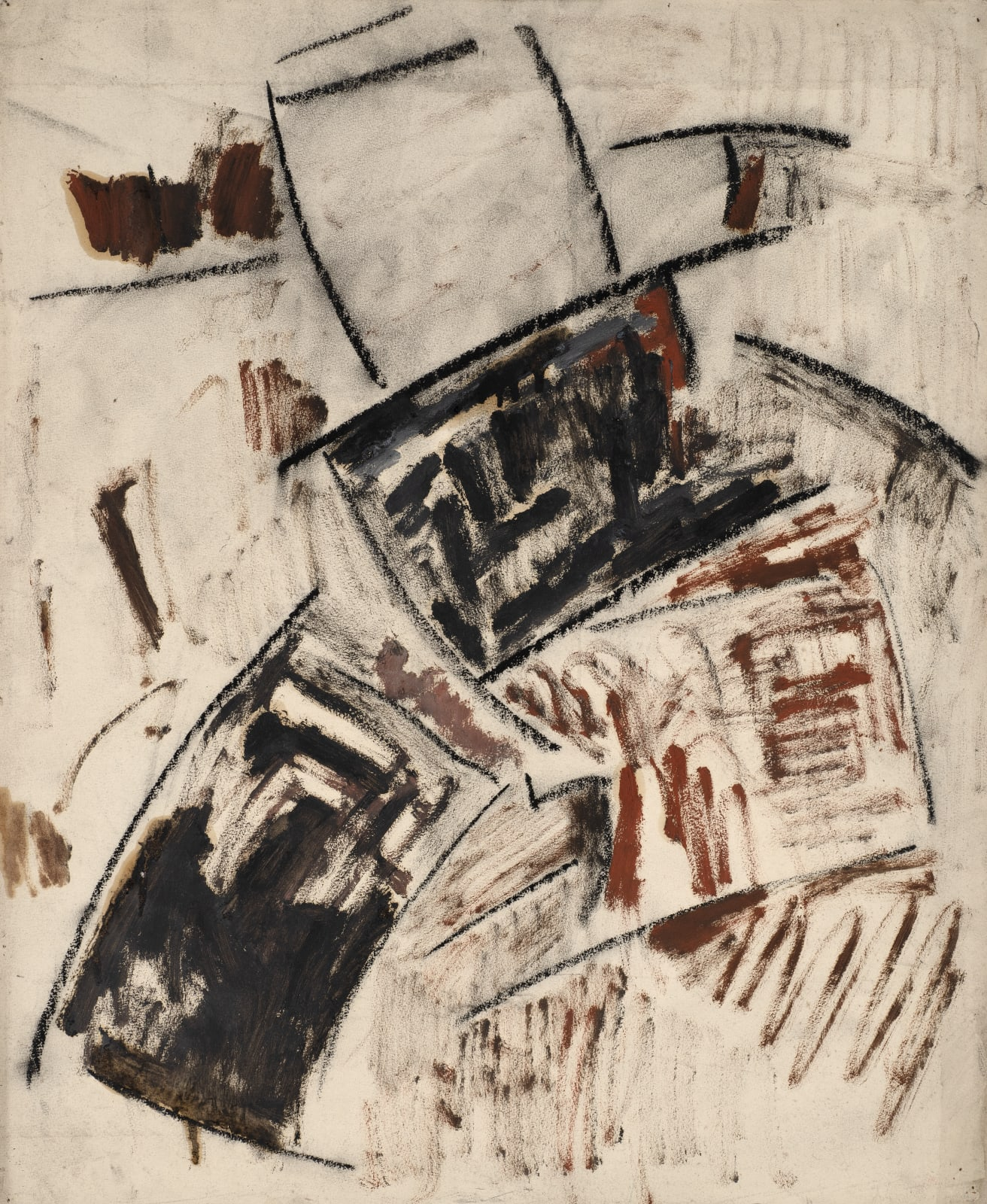 Untitled, c. 1956-60 Oil on paper laid down on board 56 x 46cm The Gustav Metzger Foundation