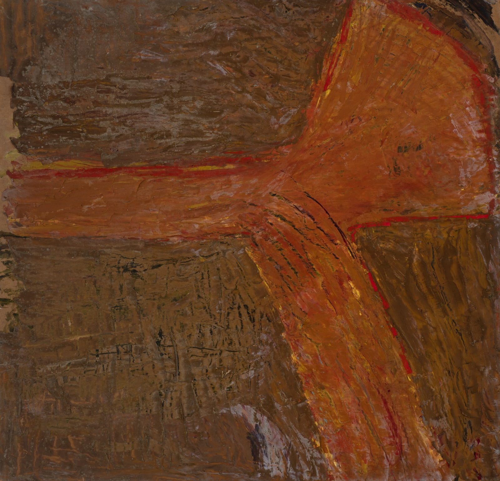 Untitled, c. 1947-53 Oil on board 122 x 117cm The Gustav Metzger Foundation