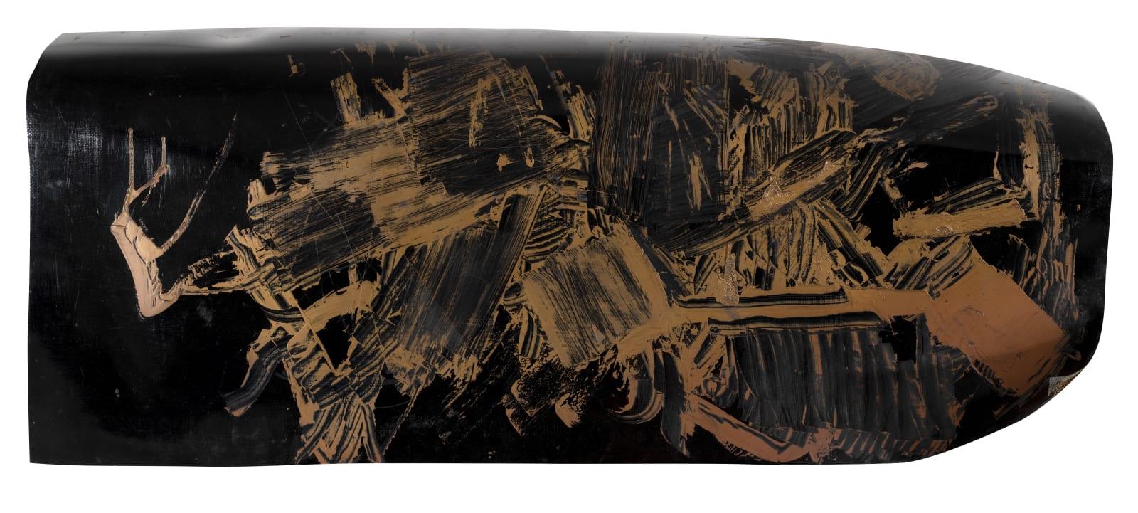 Painting on plastic, c.1958-60 Oil on plastic 60 x 135cm The Gustav Metzger Foundation