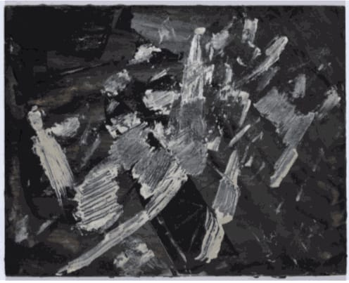 Painting, c.1958-60 Oil on board 22 x 28cm The Gustav Metzger Foundation