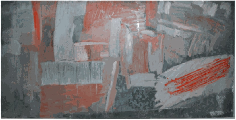 Painting on Galvanised Steel, 1958 Oil on steel 110 x 210 cm Private Collection