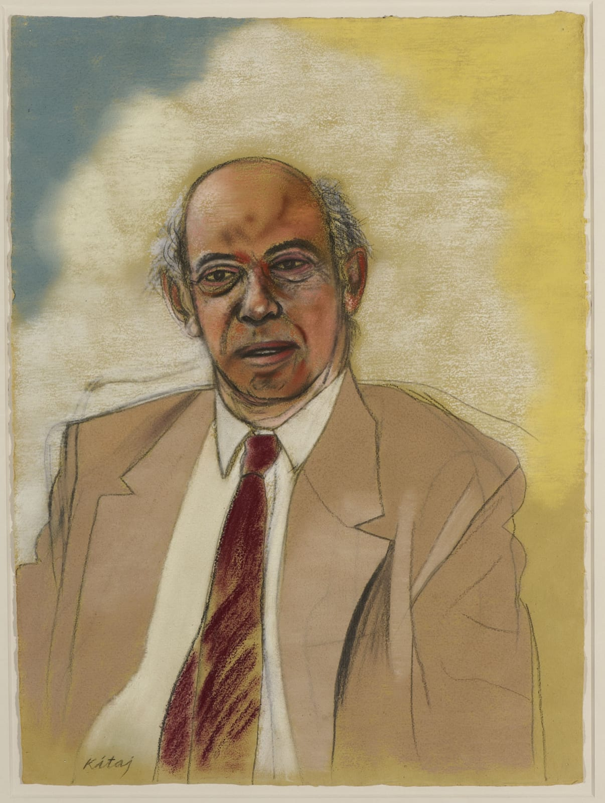 R.B. Kitaj (1932-2007) Sir Claus Moser 1987 Pastel on paper 77 x 57 cm Ben Uri Collection © R.B. Kitaj estate To see and discover more about this artist click here