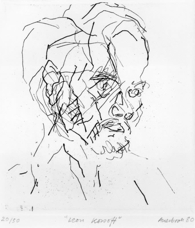Frank Auerbach (1931-) Leon Kossoff 1980 Etching on paper Swindon Museum & Art Gallery © Frank Auerbach, courtesy of Marlborough Fine Art To see and discover more about this artist click here