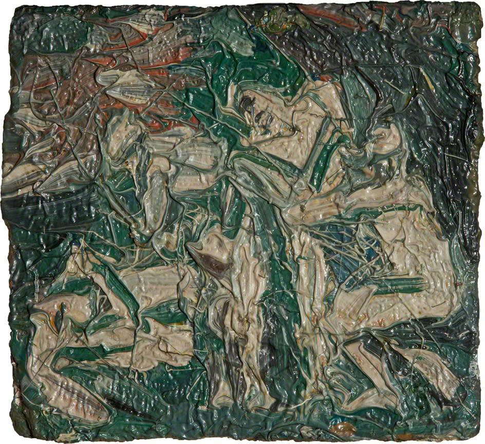 Leon Kossoff (1926-2019) Study for copy of 'Cephalus and Aurora' by Poussin No.2 1976 Oil on board Swindon Museum & Art Gallery © The Estate of Leon Kossoff To see and discover more about this artist click here