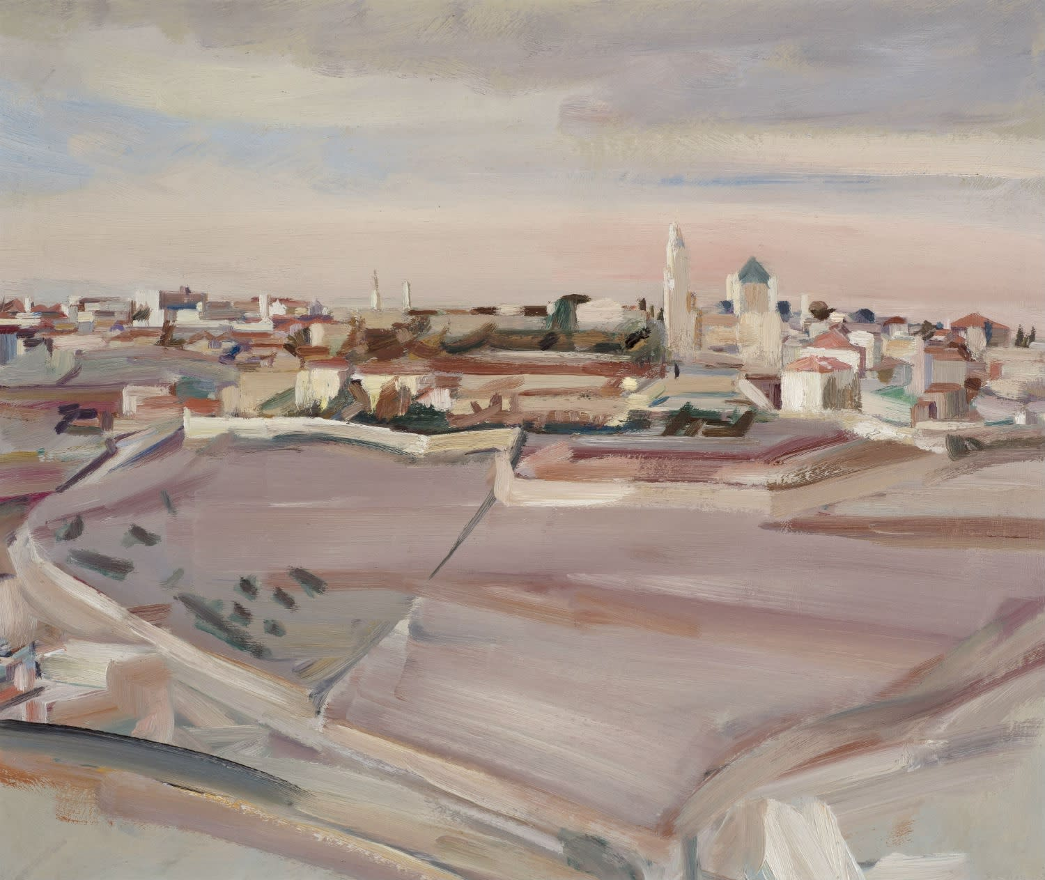 David Bomberg (1890-1957) Mount Zion and the Church of the Dormition, Jerusalem 1923 Oil on canvas 49 x 60 cm Ben Uri Collection © David Bomberg estate To see and discover more about this artist click here