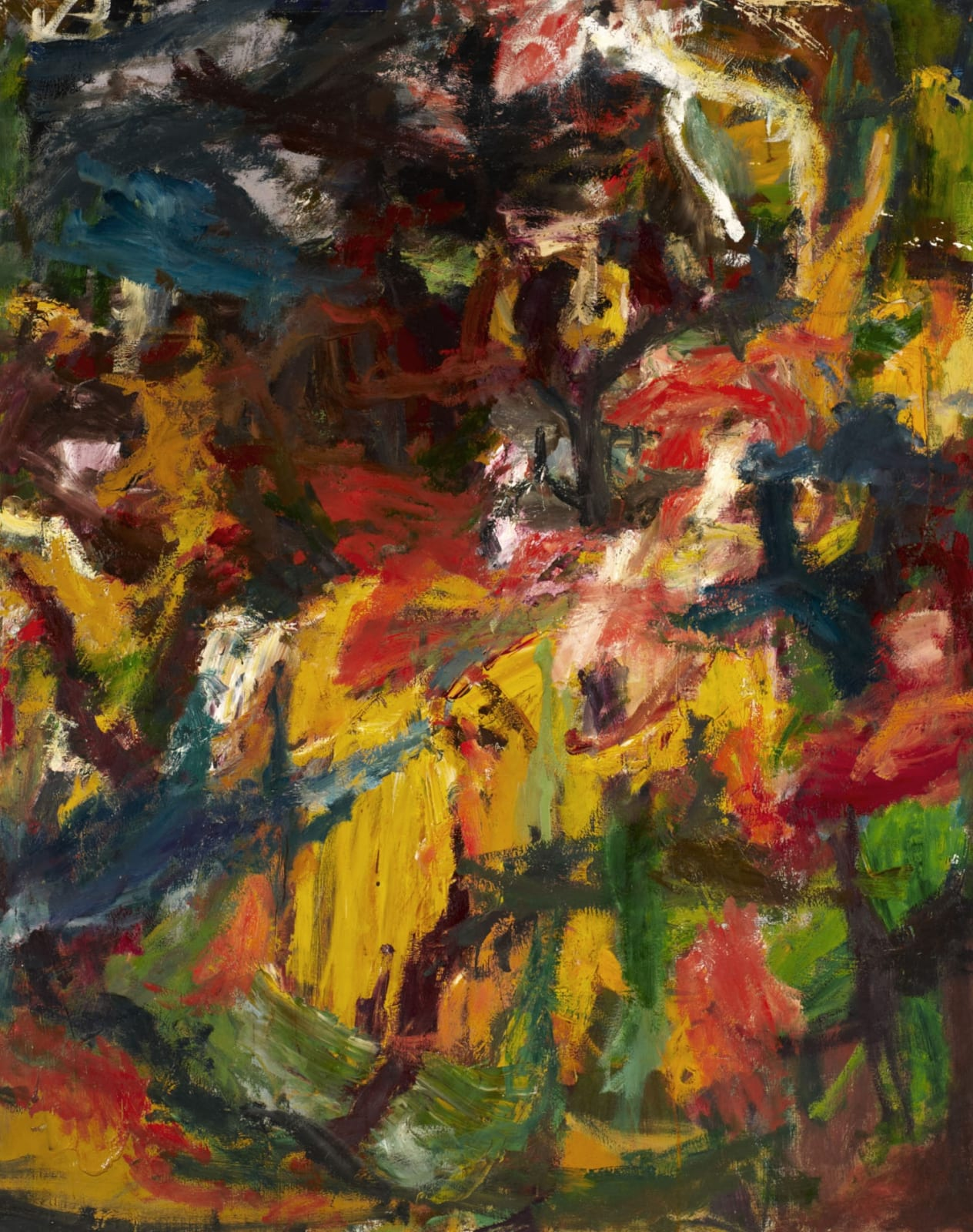 Erich Kahn (1904-1979) Composition n.d. Oil on canvas 126.5 x 101.5 cm Ben Uri Collection © Erich Kahn estate