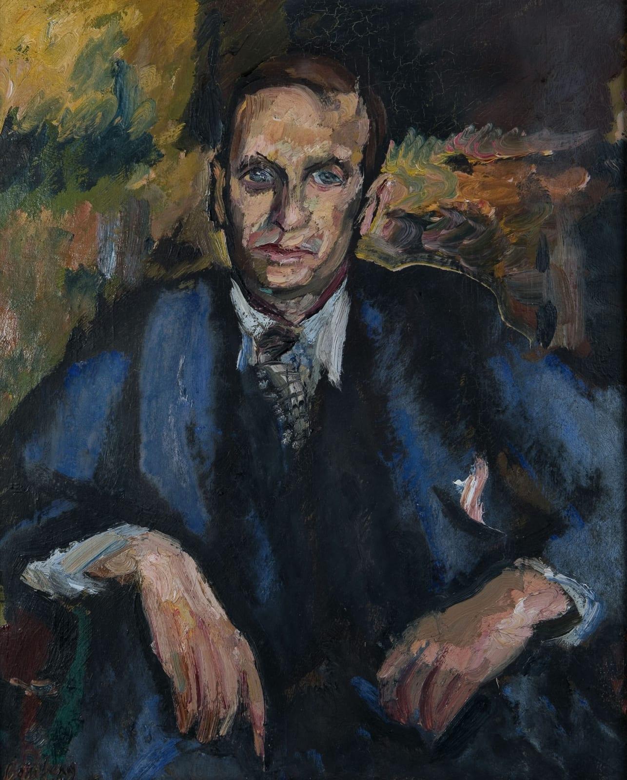 David Bomberg (1890-1957) Portrait of John Rodker c.1931 Oil on canvas 71.5 x 57 cm Ben Uri Collection © David Bomberg estate