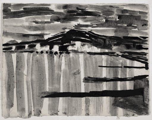 Gustav Metzger Antwerp, 1949 Ink on paper 18 x 23cm. The Gustav Metzger Foundation