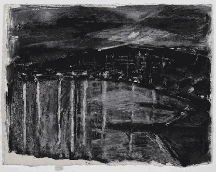 Gustav Metzger Antwerp, 1949 Ink on paper, 18 x 23cm. The Gustav Metzger Foundation