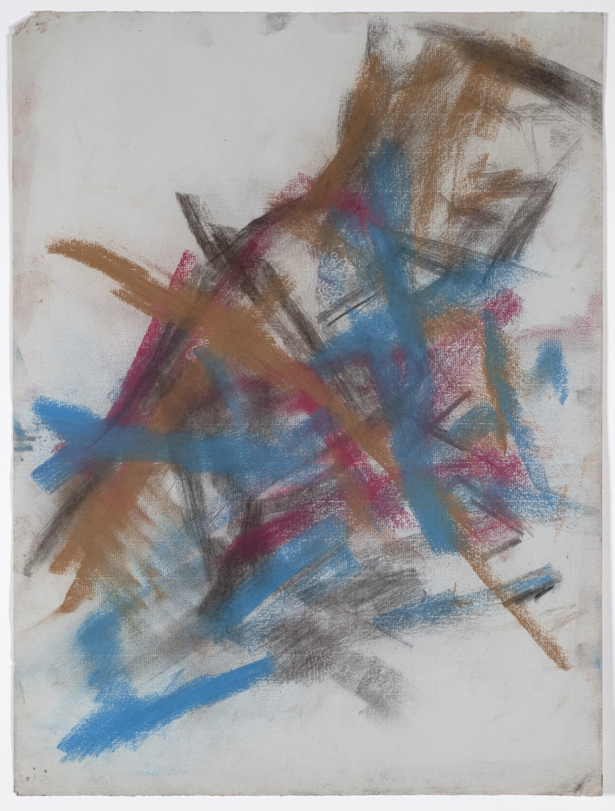 Composition, c. 1950-53 Chalk and charcoal on paper 52 x 38.2cm The Gustav Metzger Foundation