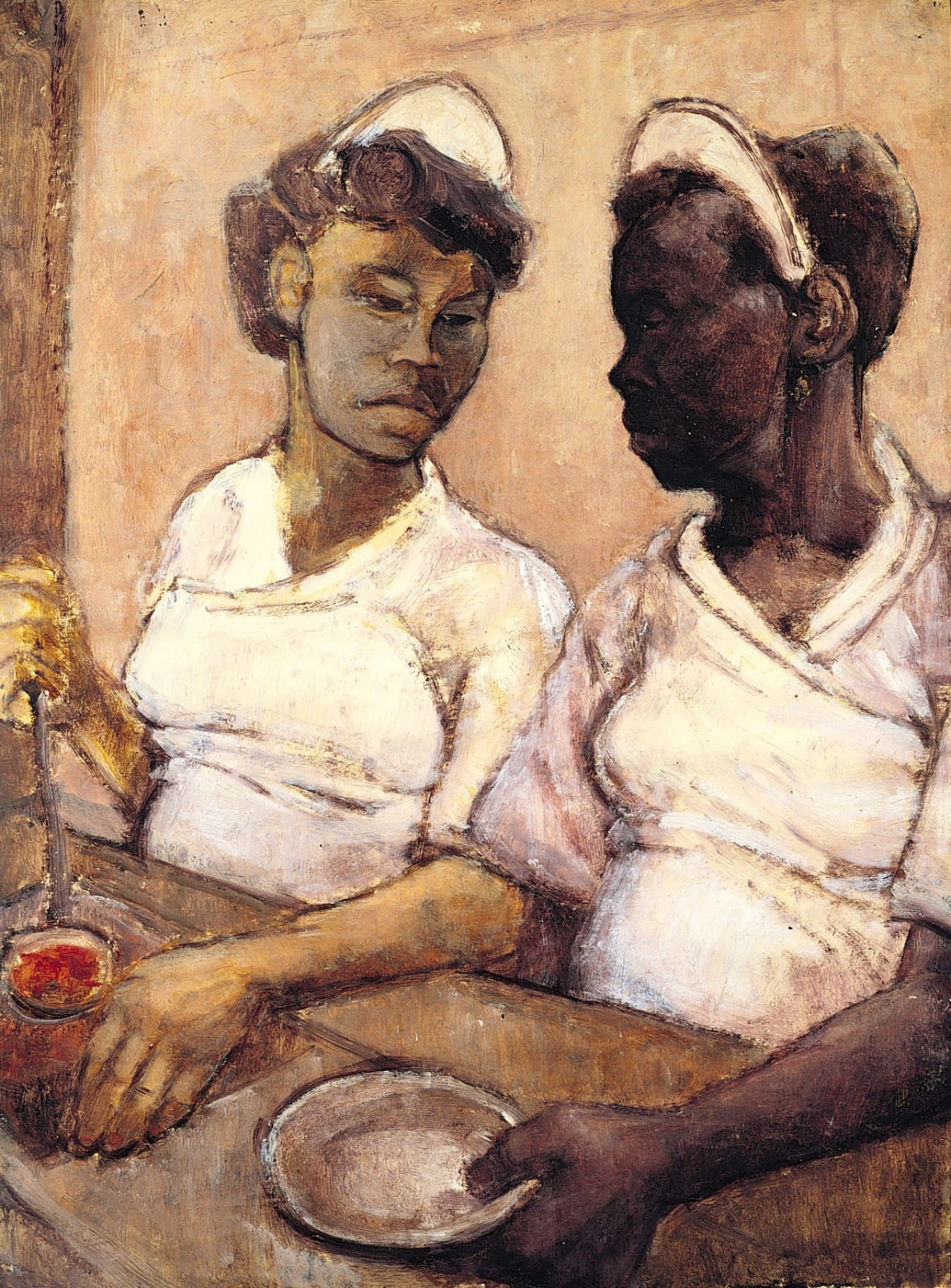 West Indian Waitresses by Eva Frankfurther Part of the audio guide produced for Ben Uri gallery 2015 Centenary. Listen