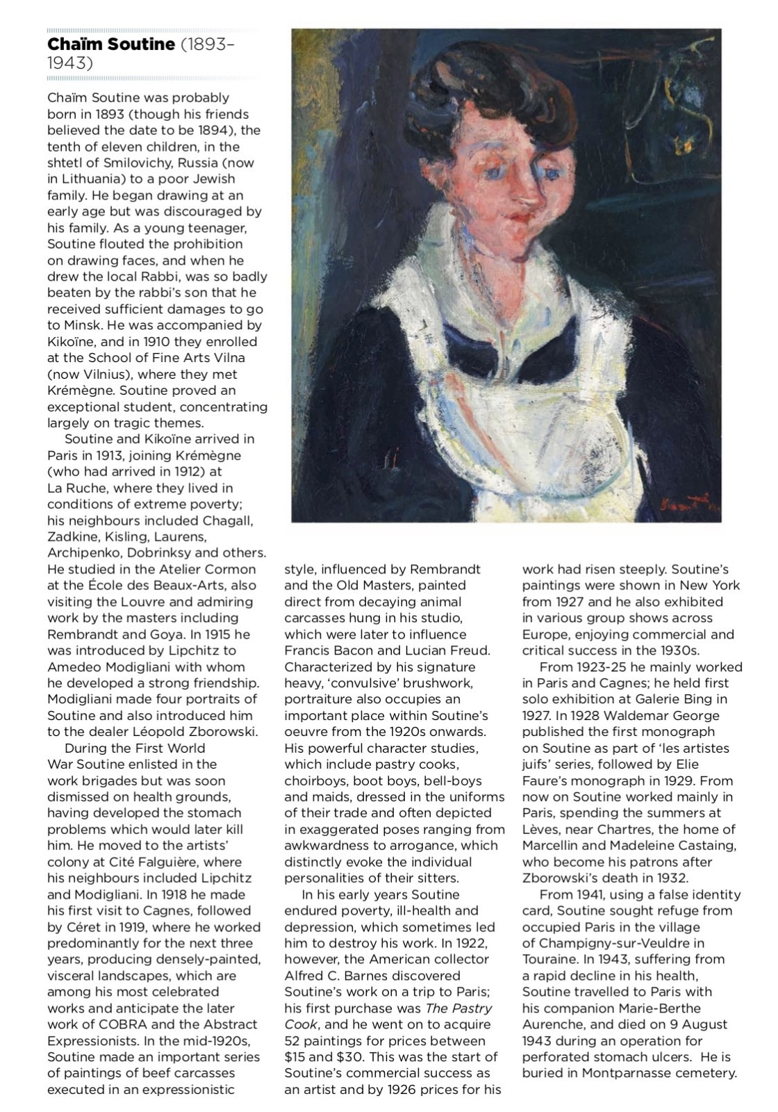 The Acquisition of Chaim Soutine's La Soubrette by ben uri Part of the audio guide produced for Ben Uri gallery 2015 Centenary. Listen