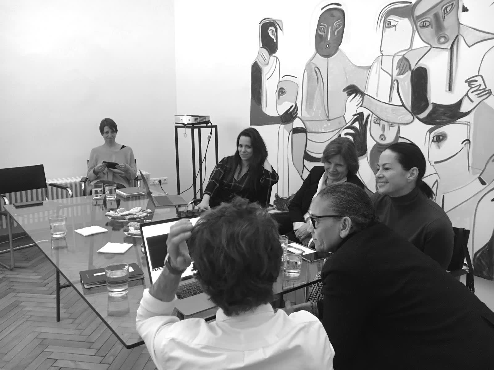 Meeting the artist Lubaina Himid at B.LA's Artspace & WwB's Headquarters.