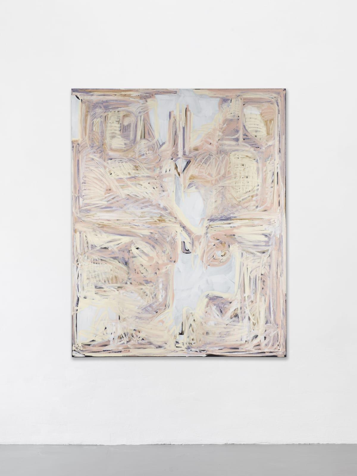 Melike Kara, KARS Border, 2020, oil stick and acrylic on canvas, 150x200 cm