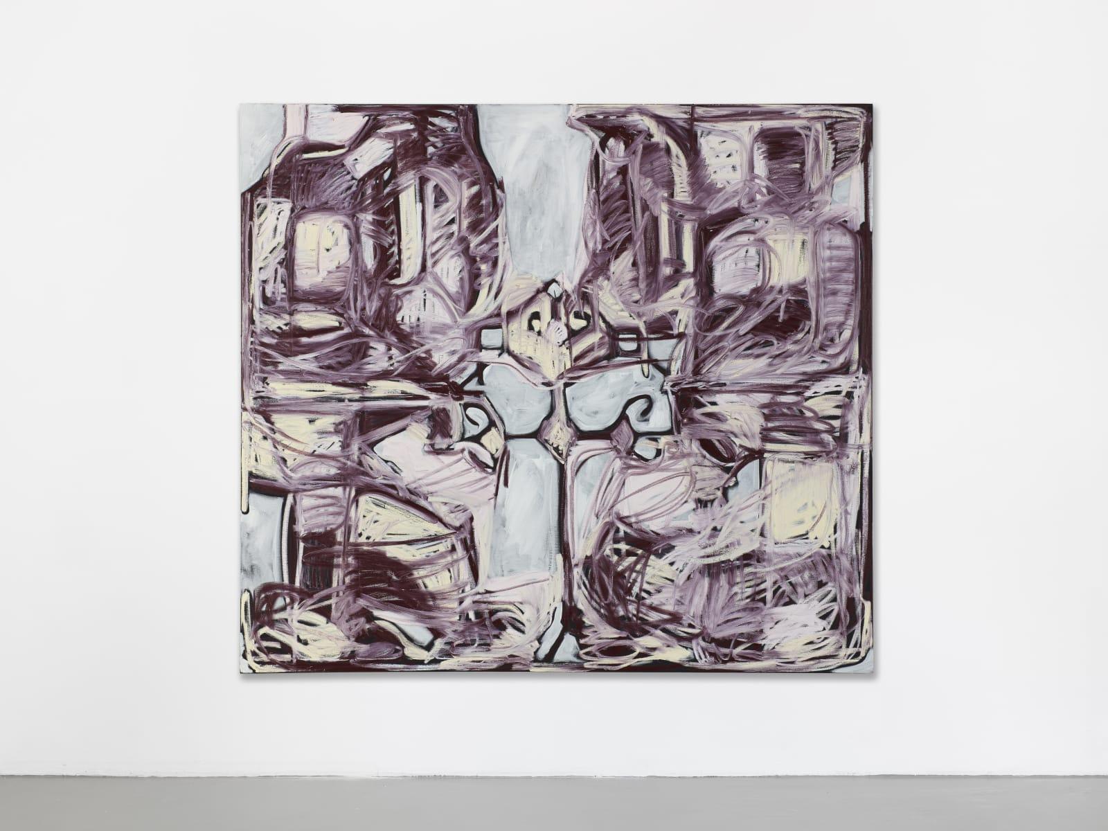 Melike Kara, Kochak+diamond, 2020, oil stick and acrylic on canvas, 180x200cm
