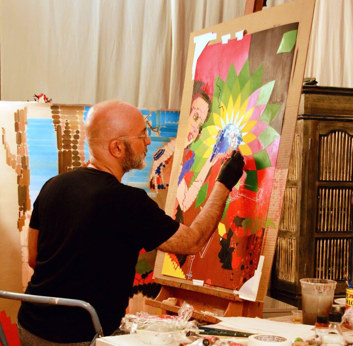 Labbauf at work in his studio