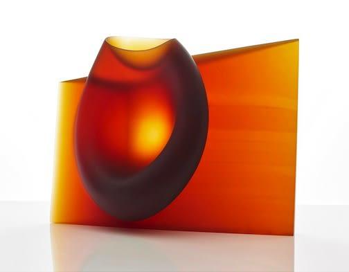 Crossover Award winner - Ashraf Hanna: Amber red vessel form