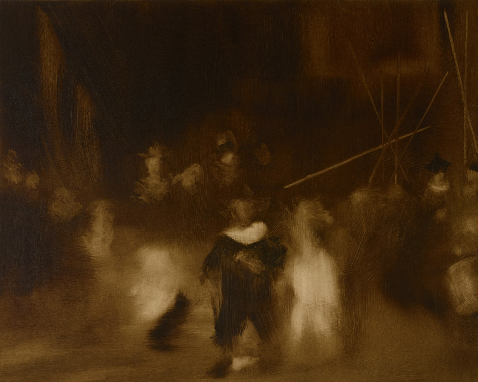 Medium Study I for Night Watch oil on canvas 61cm x 76cm (24
