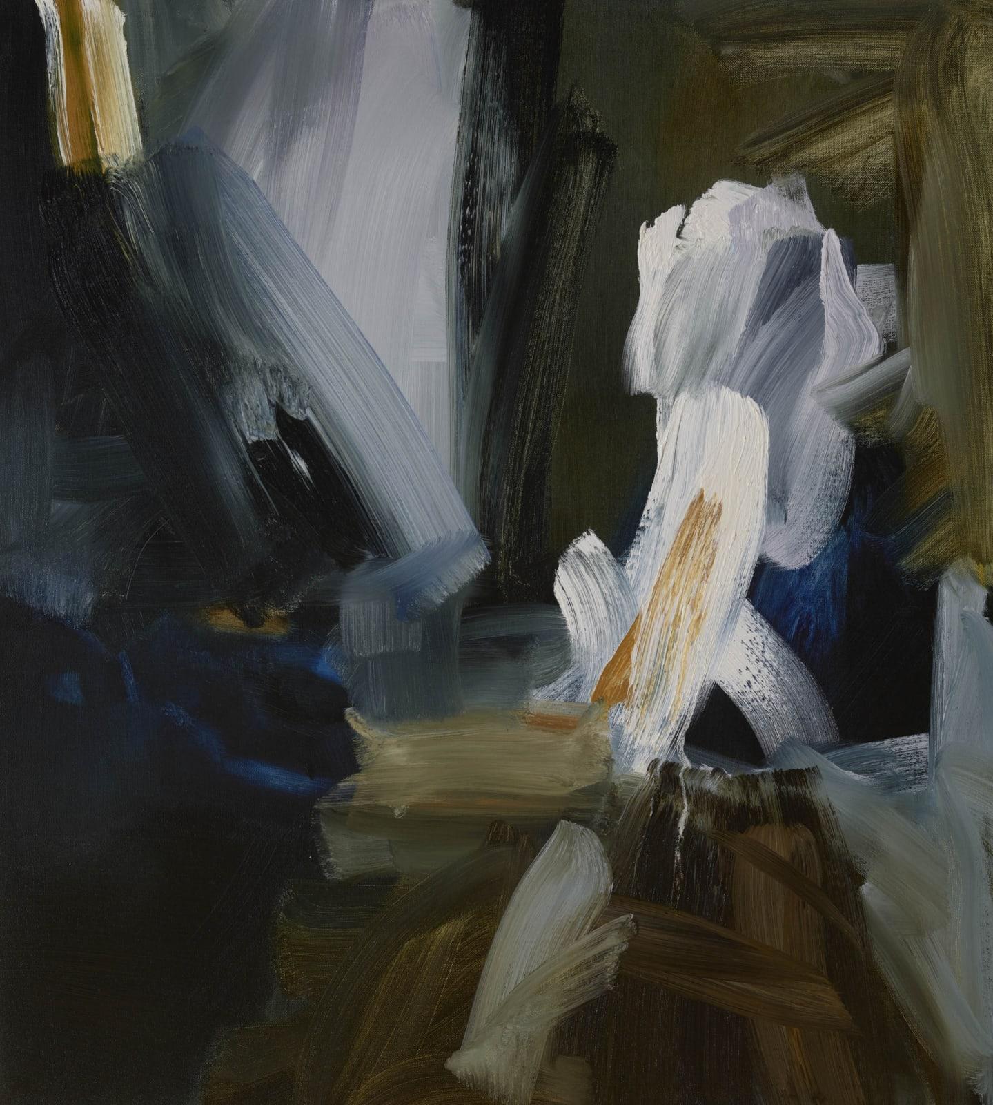 Woman with a Balance oil on canvas 76cm x 69cm (30