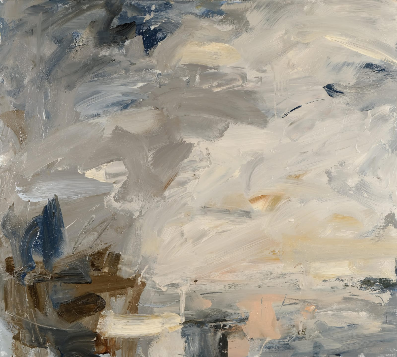 Sky Gleam, Zennor oil on canvas 90cm x 100cm