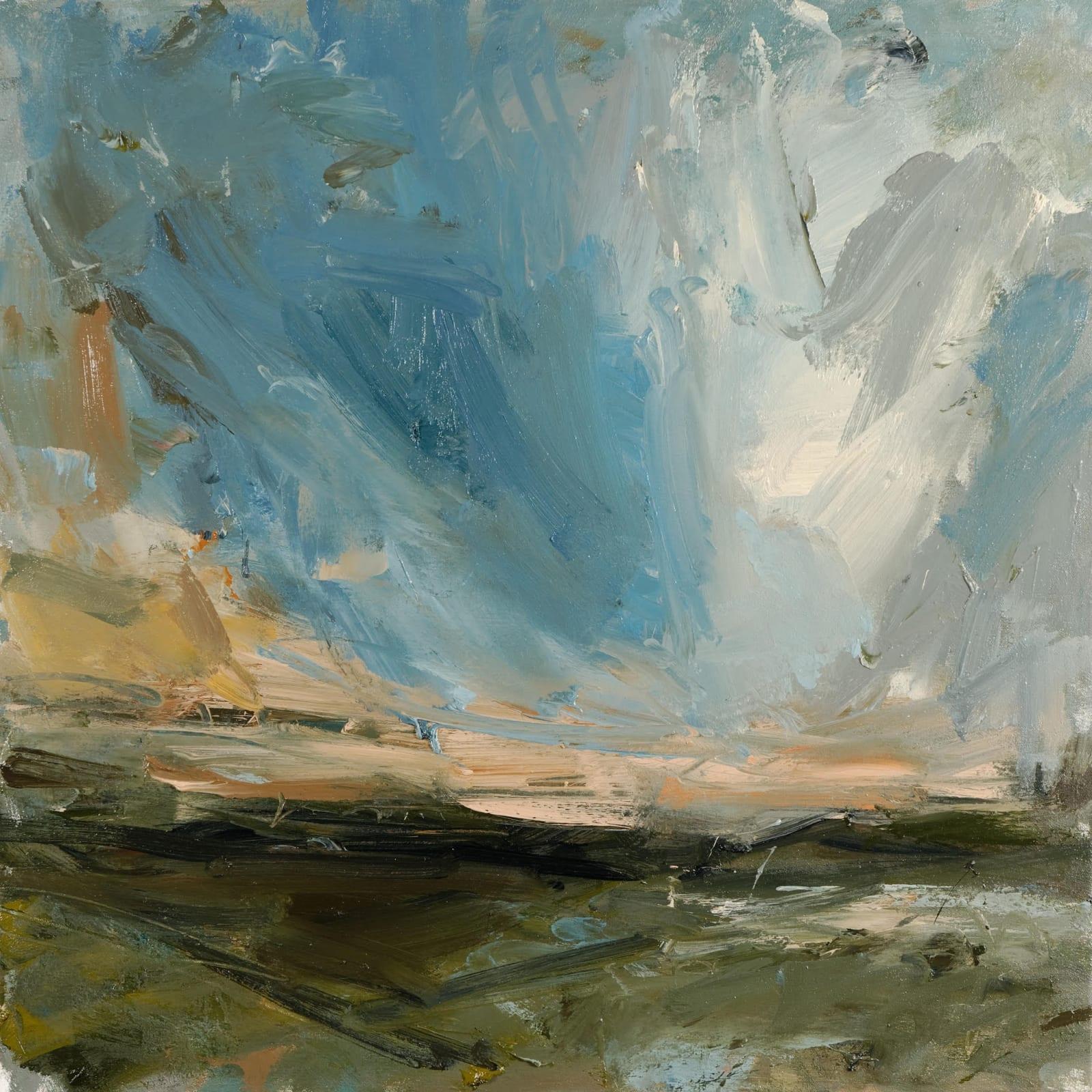 Deep Turquoise (Bojewyan) oil on canvas 70cm x 70cm