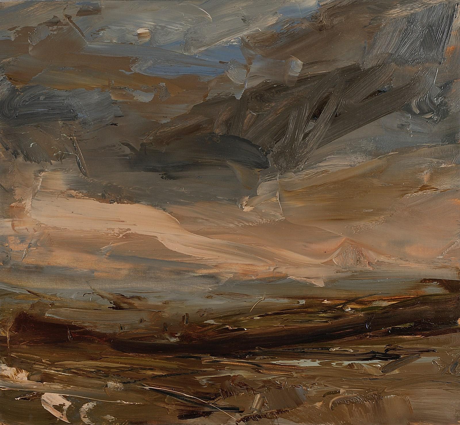 Last Light, Wheal Bal Farm oil on canvas 55cm x 60cm