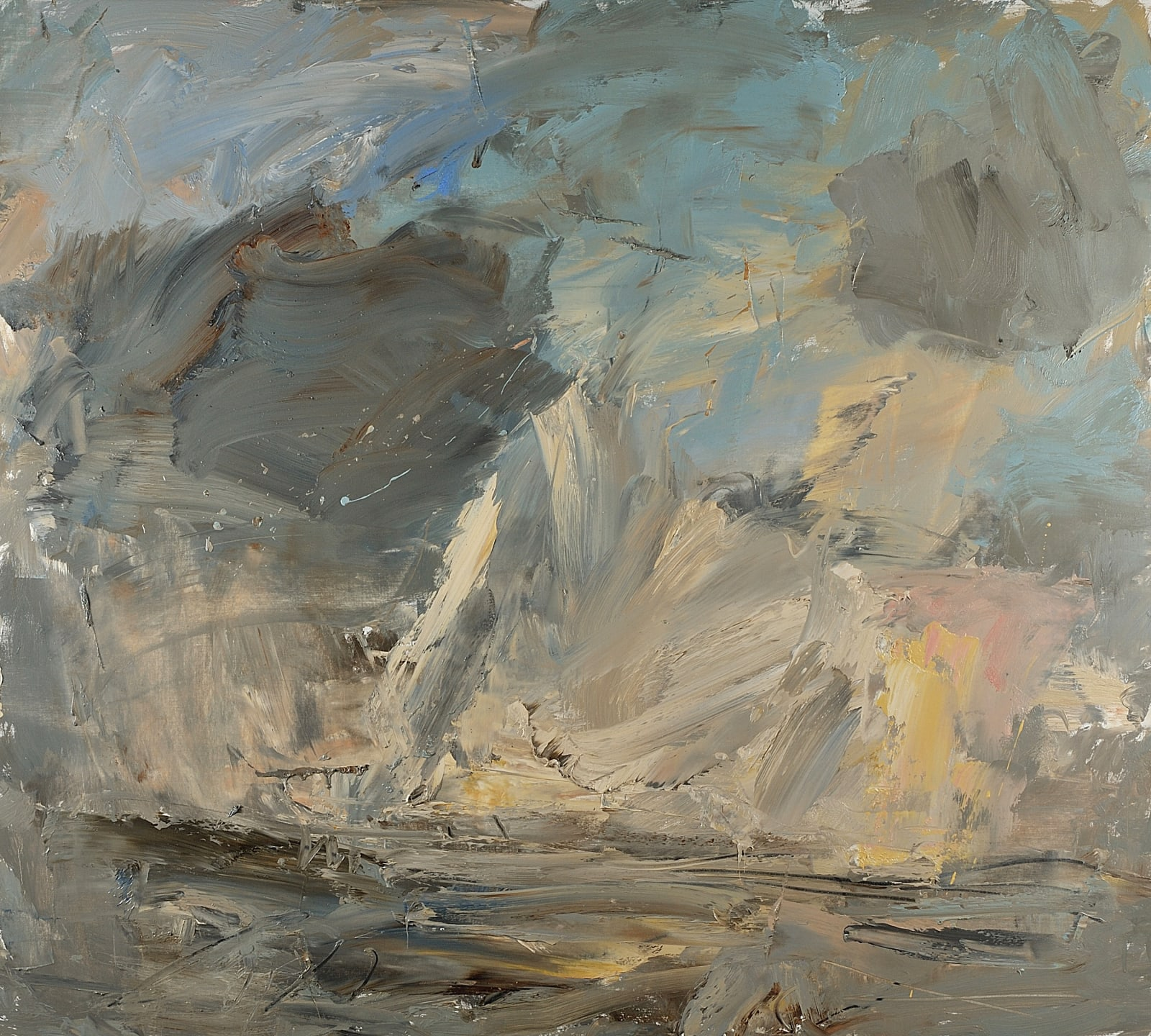 Flying Pieces (North Kent Marshes) oil on canvas 90cm x 100cm