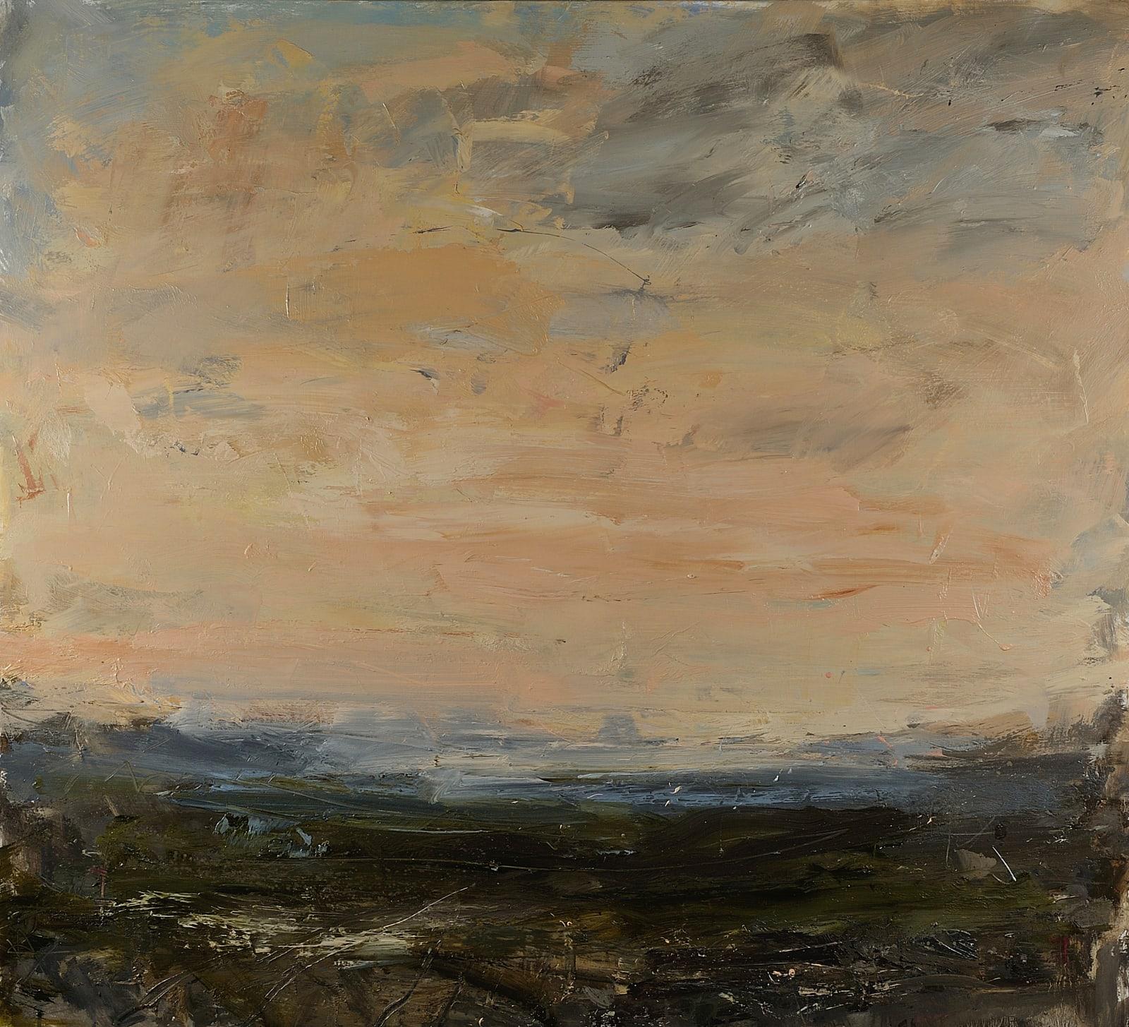 Quiet Pink Evening, Ashdown Forest oil on canvas 100cm x 110cm