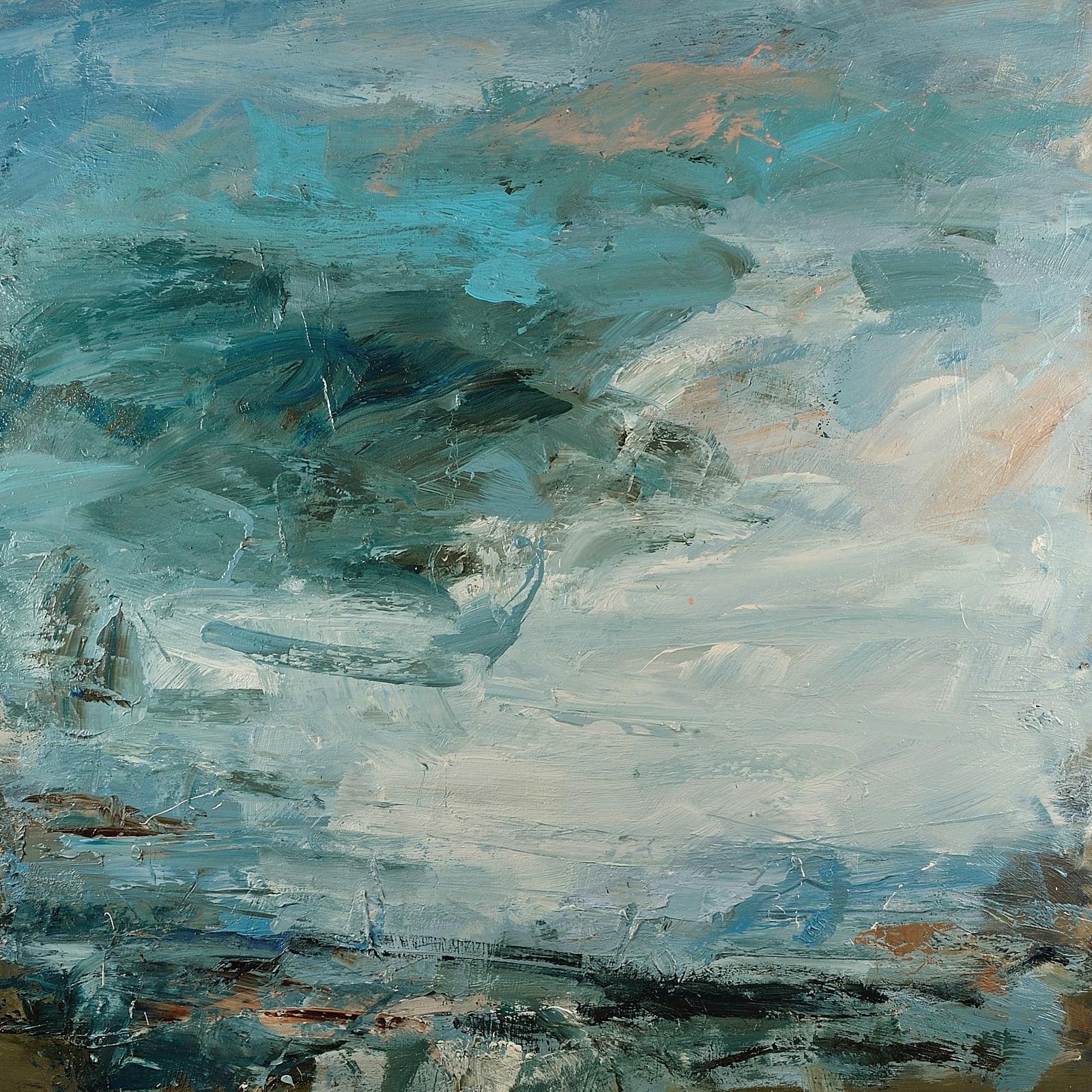 Slanting Light at Zennor oil on canvas 110cm x 110cm
