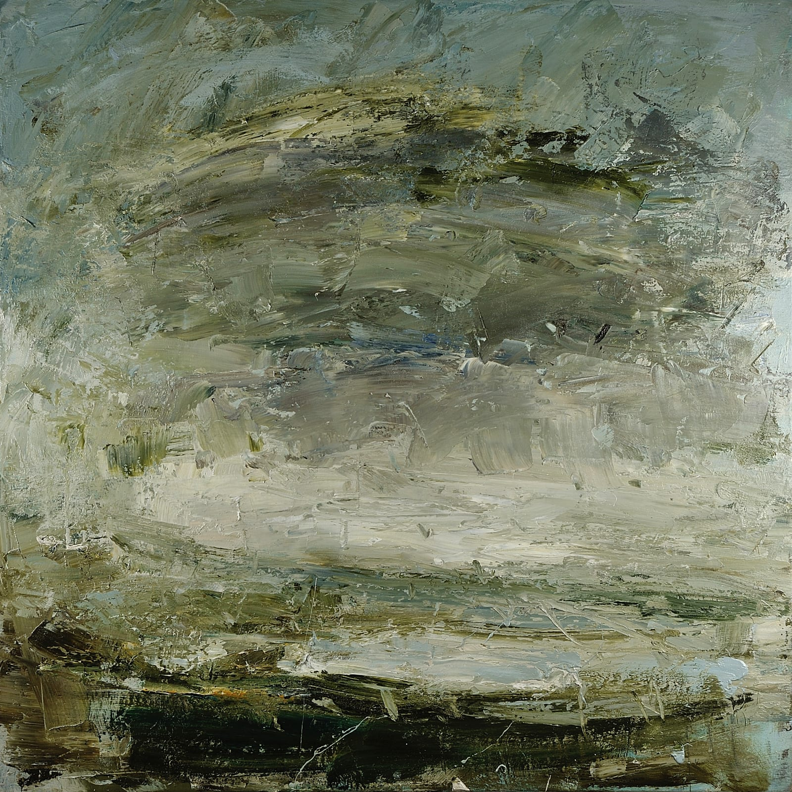 North Kent Marshes, October Afternoon oil on canvas 110cm x 110cm