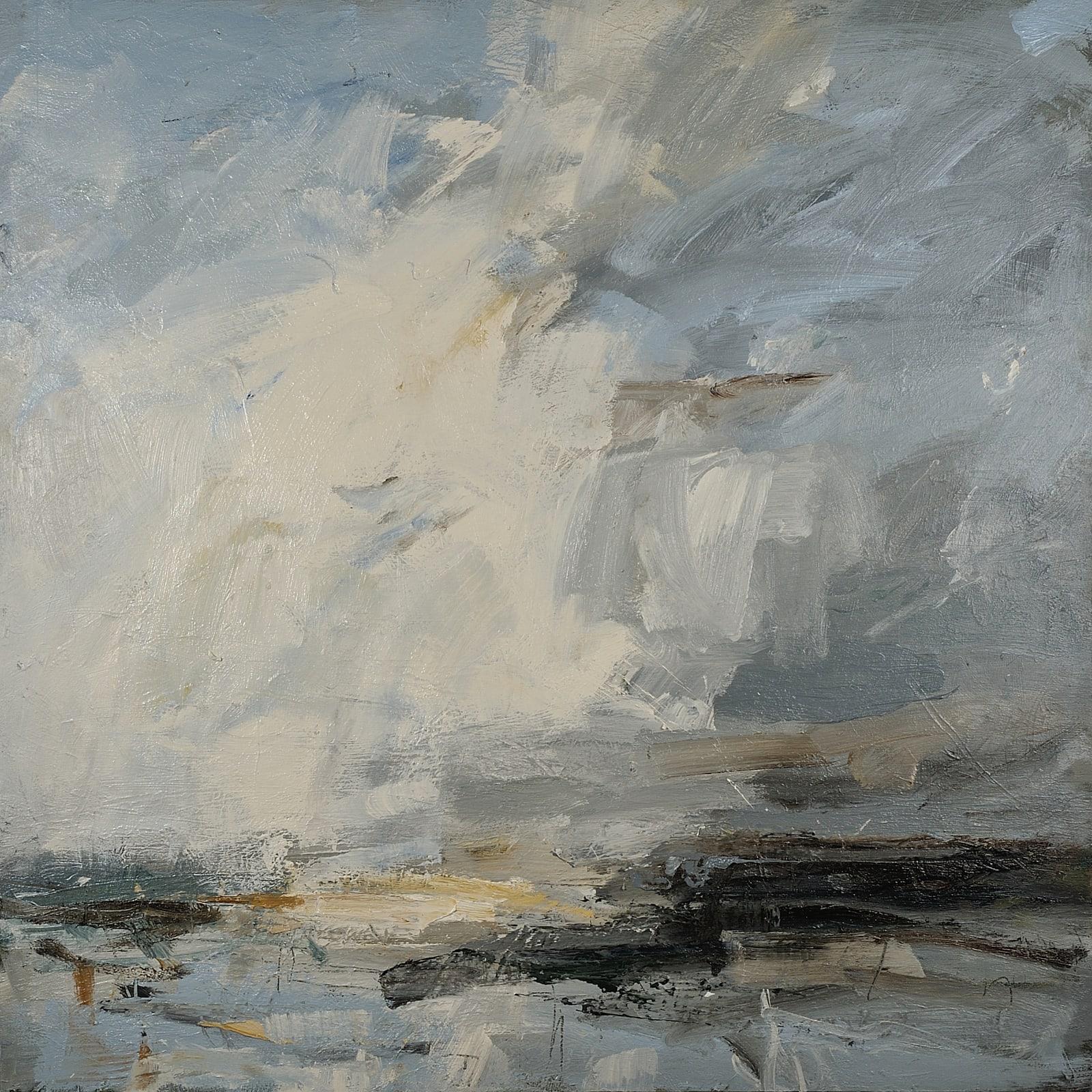 White Cloud Leap, Norfolk Coast oil on canvas 110cm x 120cm