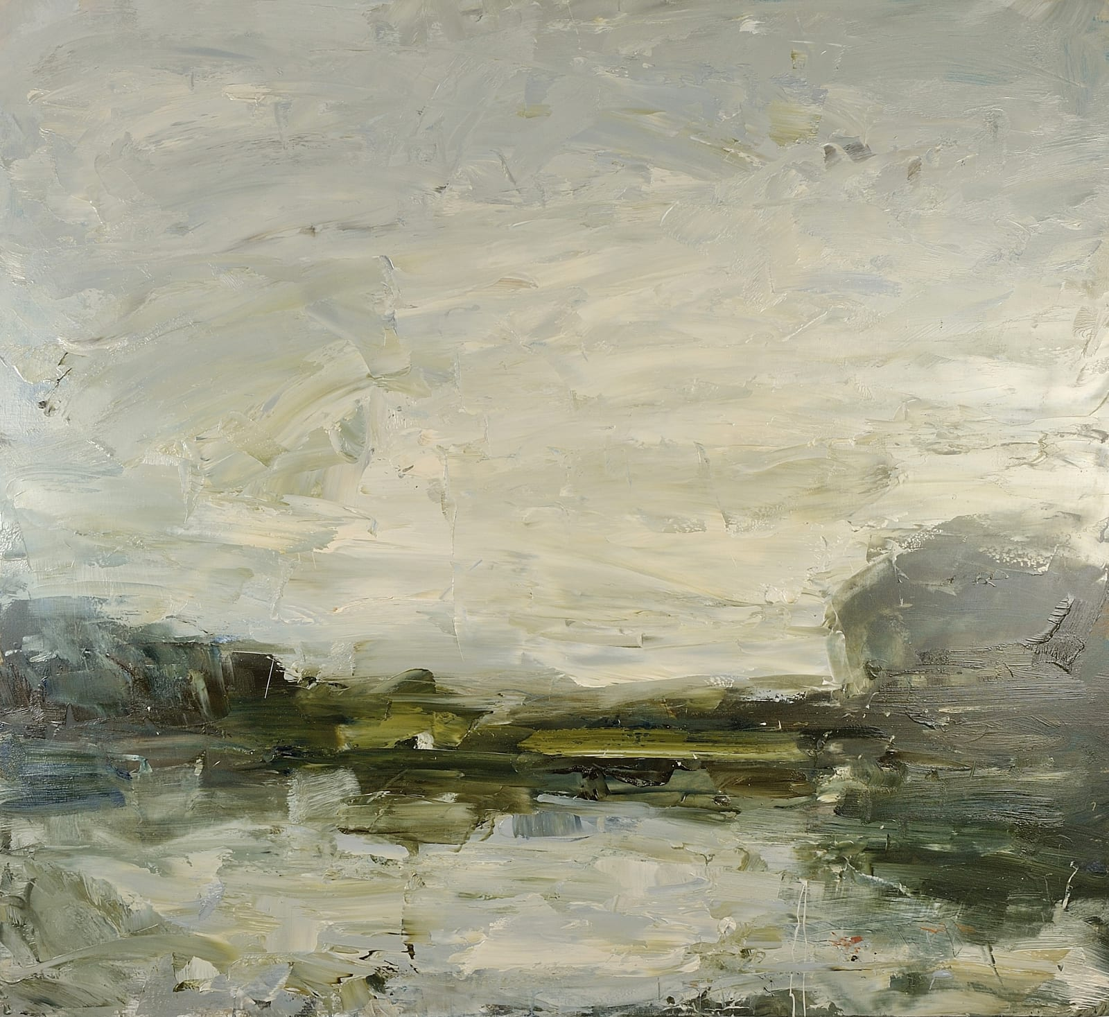 Still Air, River Stour (Constable's Walk) oil on canvas 110cm x 120cm
