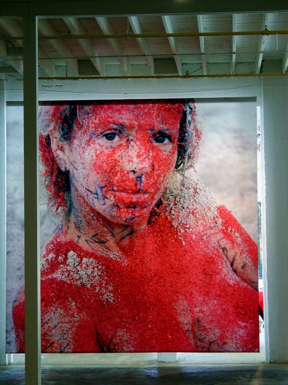 AMIGOS Installation Art Basel with Robert Miller Gallery Wynwood Red Myrna