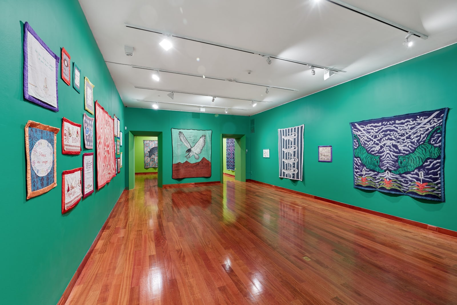 Installation view of Feliciano Centurión: Abrigo at Americas Society, February 14-May 16, 2020. Photo by OnWhiteWall.com, courtesy of Americas Society.