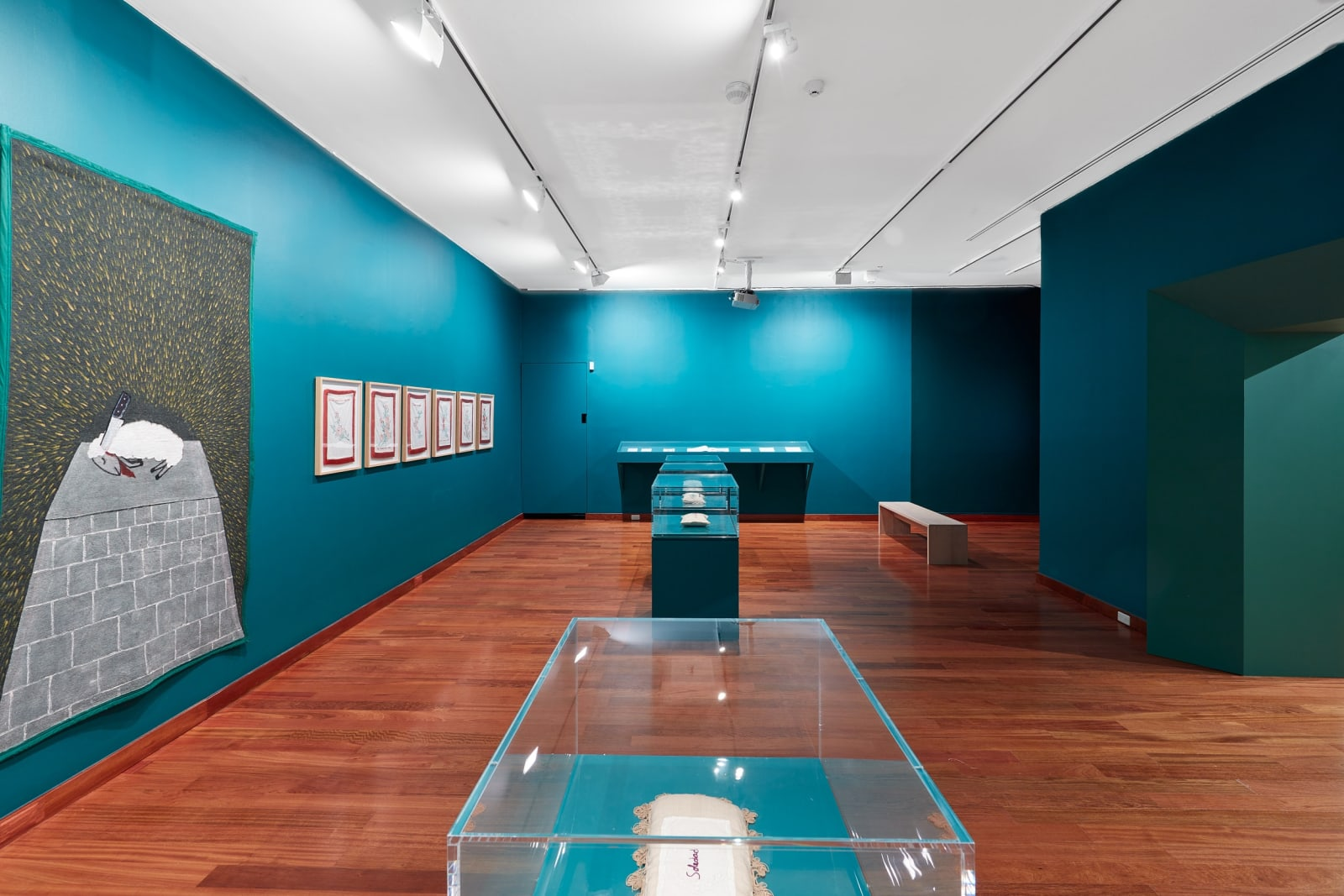 Installation view of Feliciano Centurión: Abrigo at Americas Society, February 14-May 16, 2020. Photo by OnWhiteWall.com, courtesy of Americas Society.