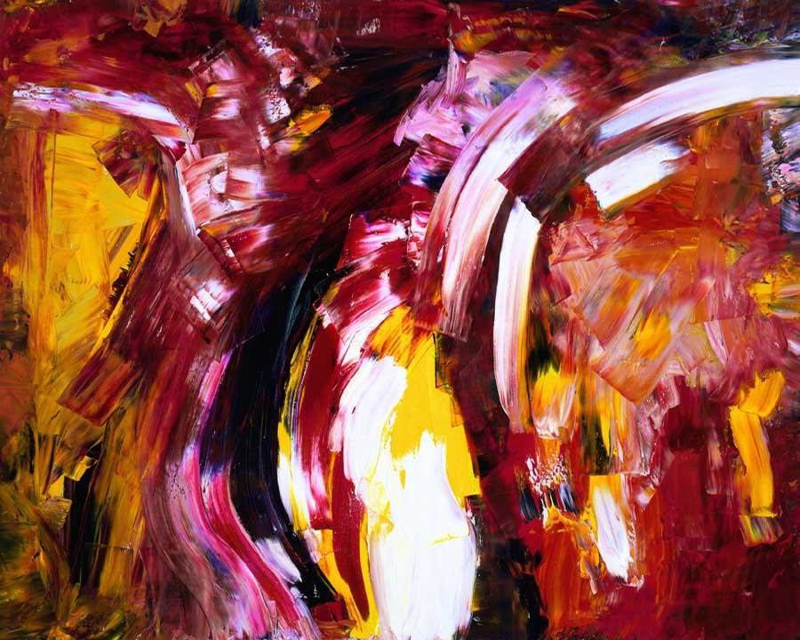 CABARET © Dellamarie Parrilli 2020 48X60 inches Oil On Canvas