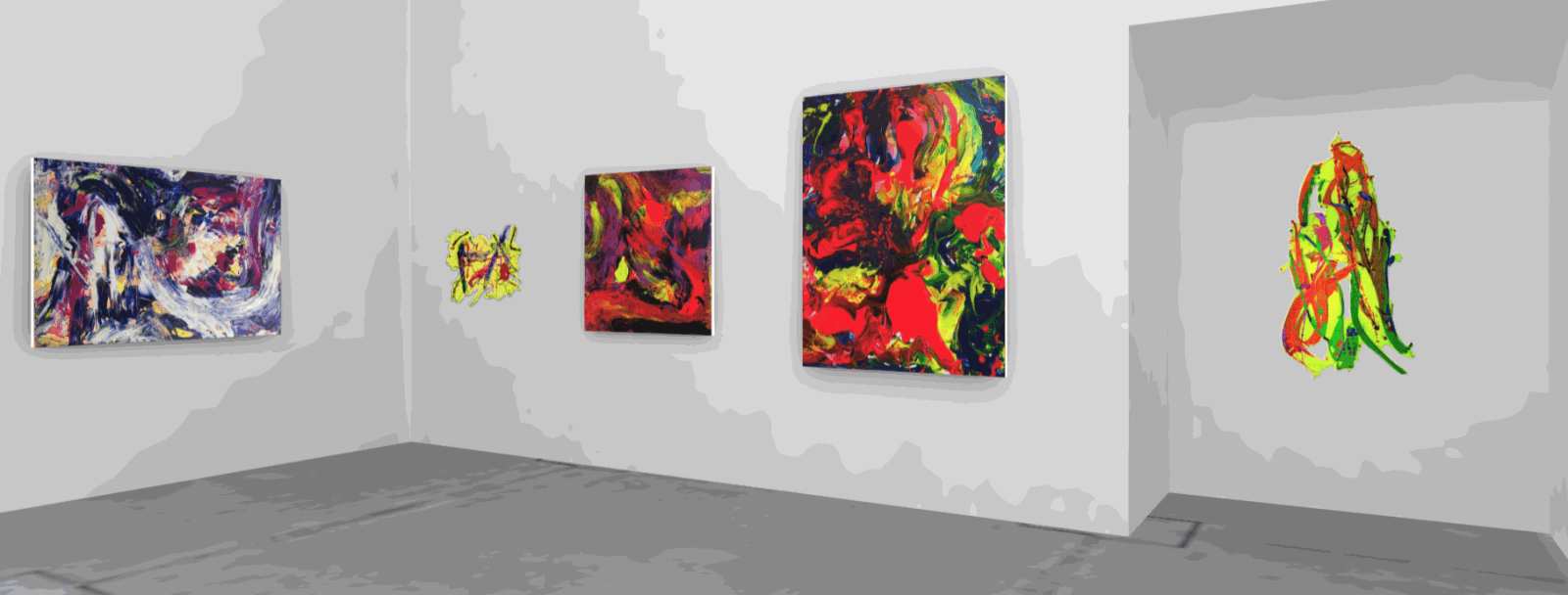 Dellamarie Parrilli: Up Close and Colorful Installation view